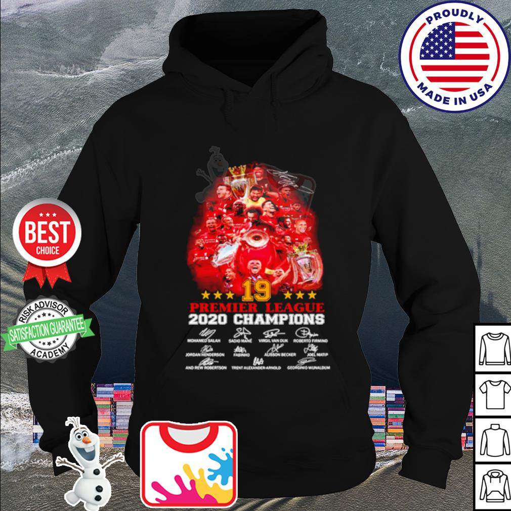19 premier league 2020 champions signature s hoodie