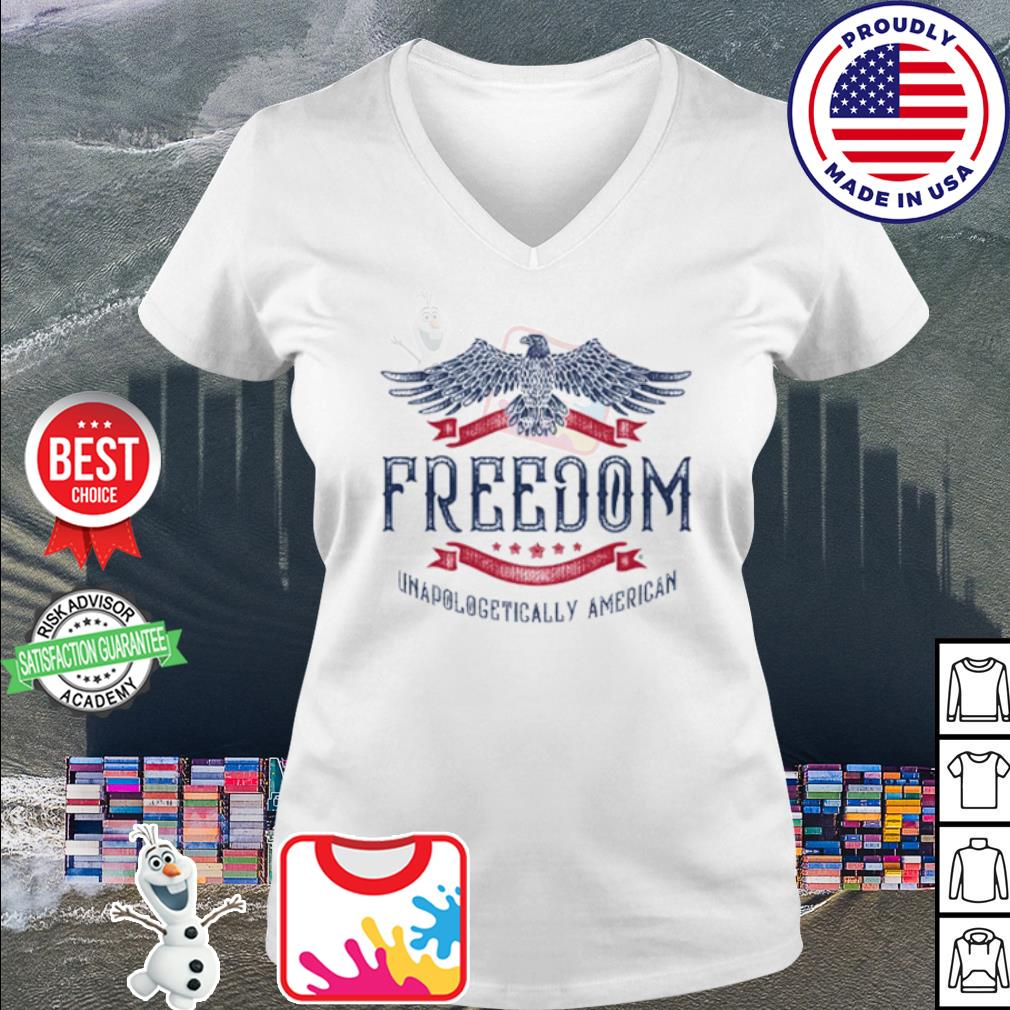 Freedom Unapologetically American s v-neck t-shirt