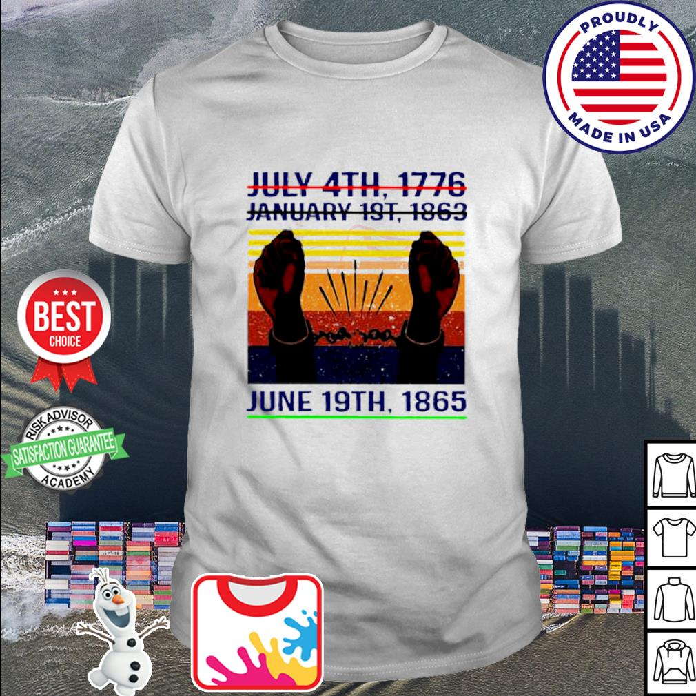 July 4th 1776 January 1st 1963 June 19th 1985 Vintage Shirt
