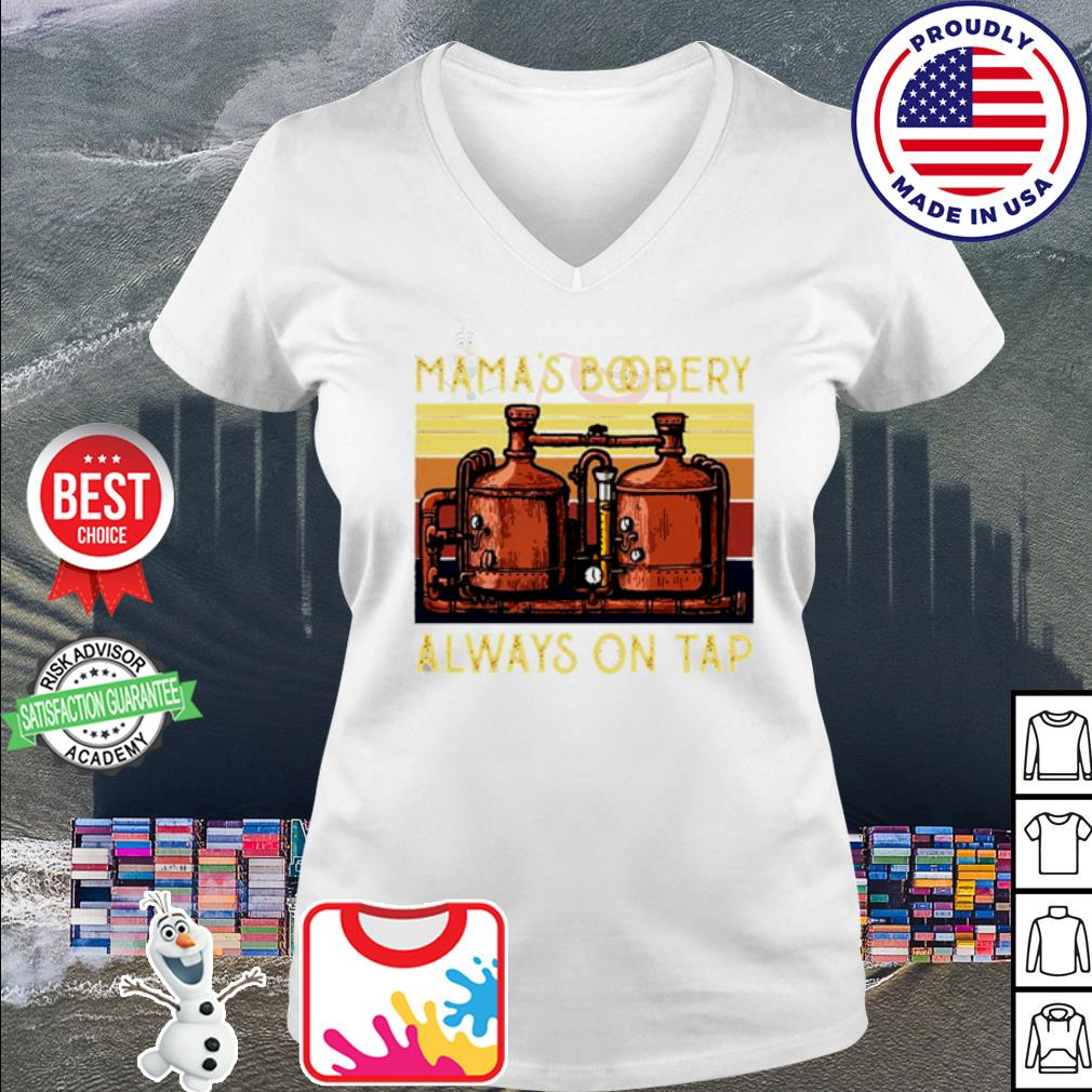 Vintage Filters Mama's Boobery always on tap s v-neck t-shirt