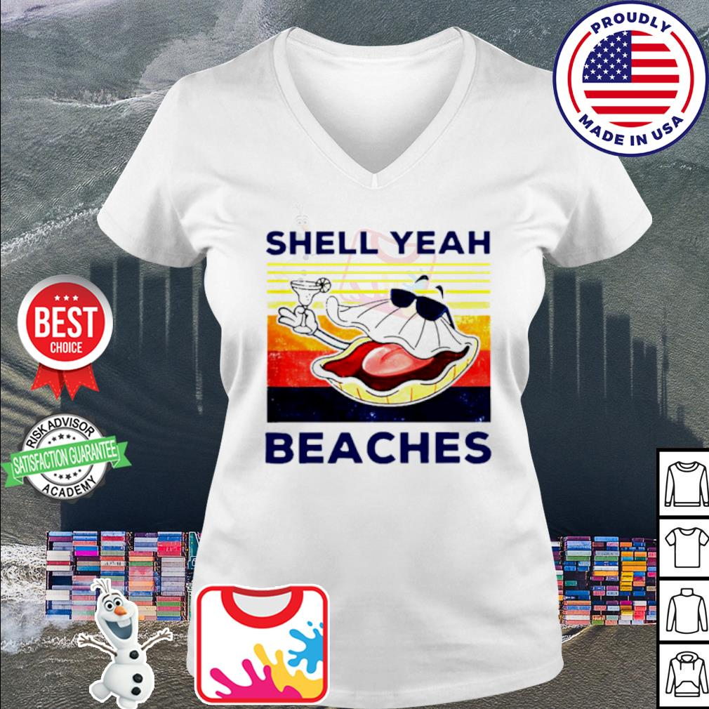 Vintage shell yeah beaches s v-neck t-shirt