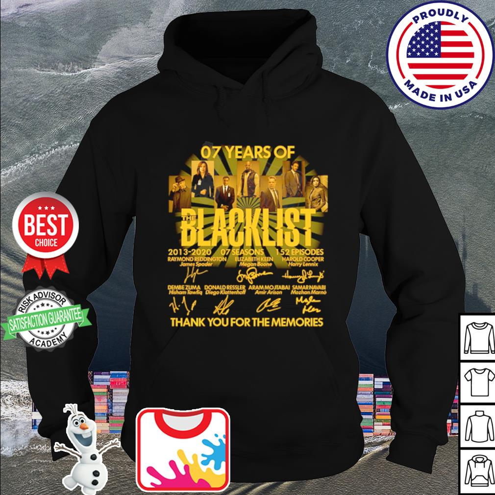 07 years of Blacklist thank you for the memories signature s hoodie