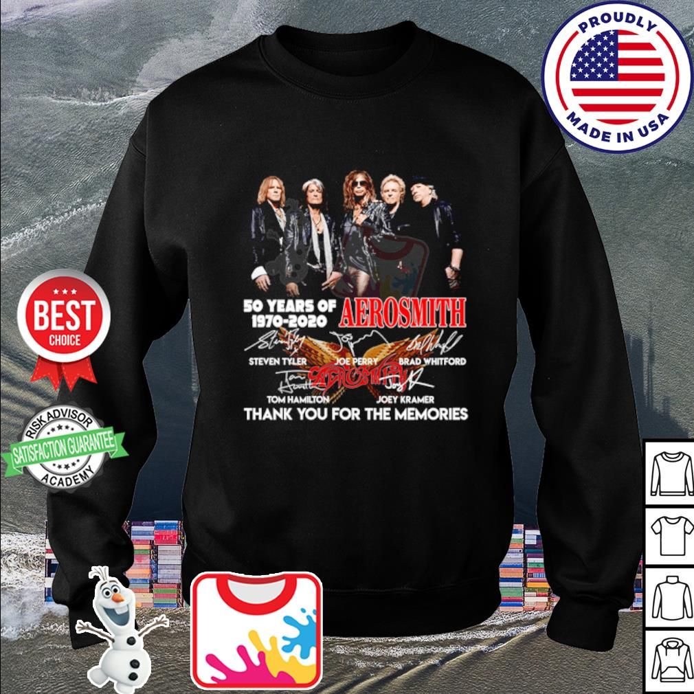 50 years of Aerosmith 1970 2020 thank you for the memories signature s sweater