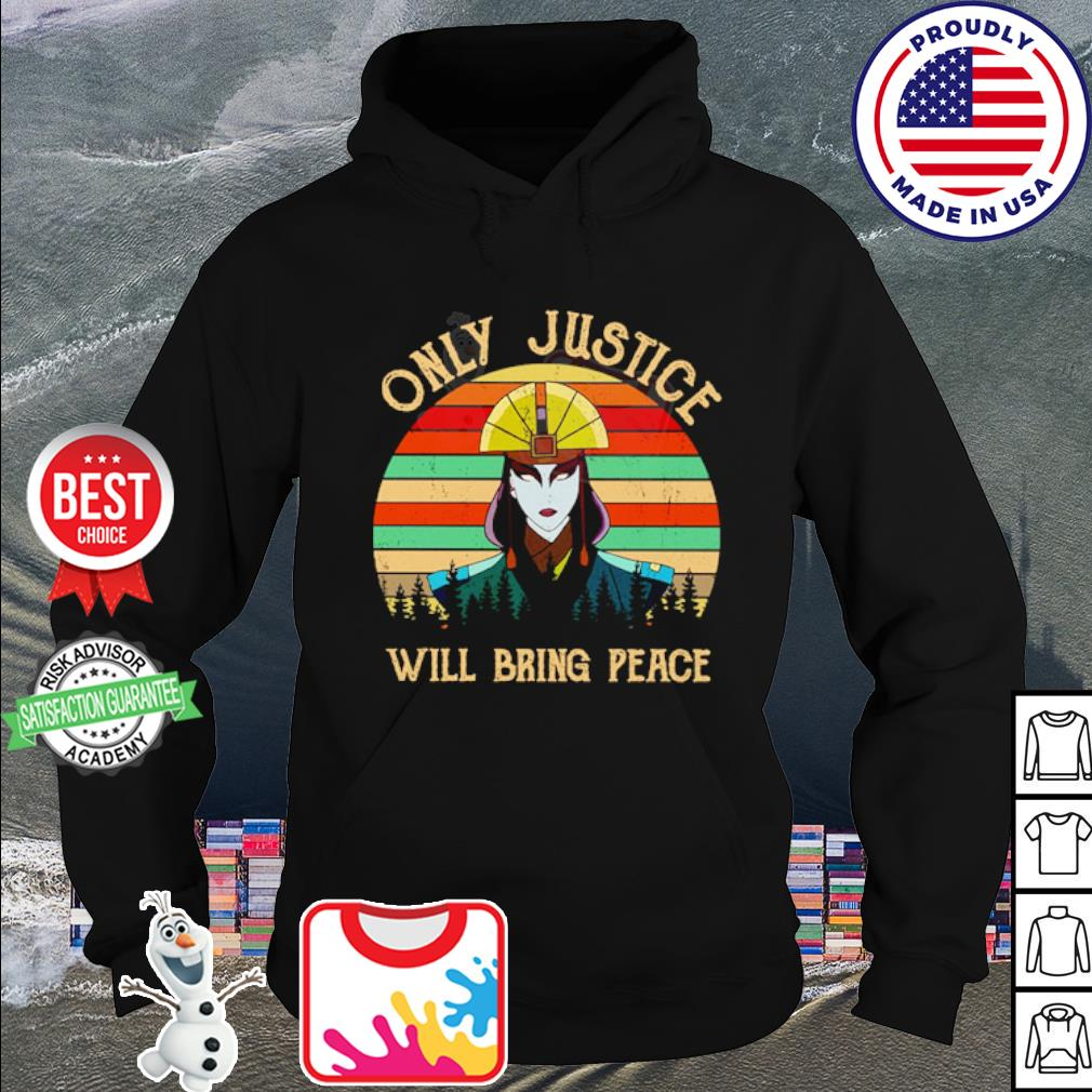 Avatar Kyoshi Only justice will bring peace vintage s hoodie