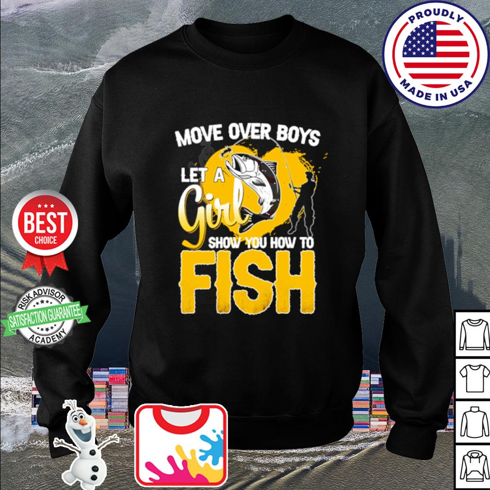 Move over boys let a girl show you how to fish s sweater