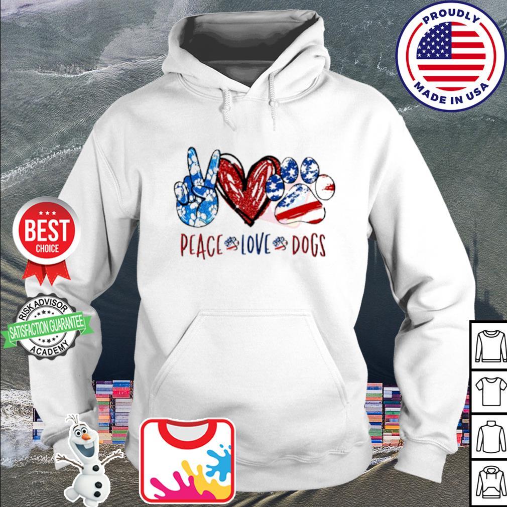 Peace Love Dogs s hoodie