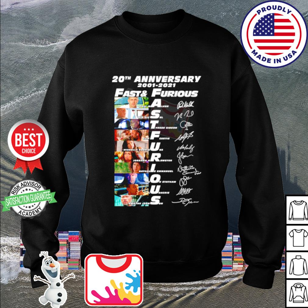 20th anniversary 2001 2020 Fast and Furious signature s sweater