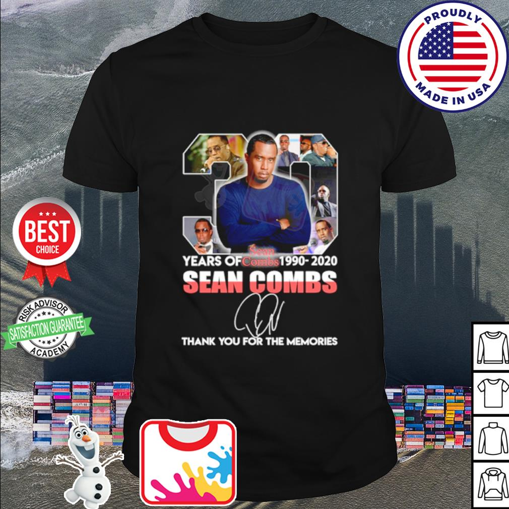 30 years of Sean Combs 1990 2020 thank you for the memories shirt