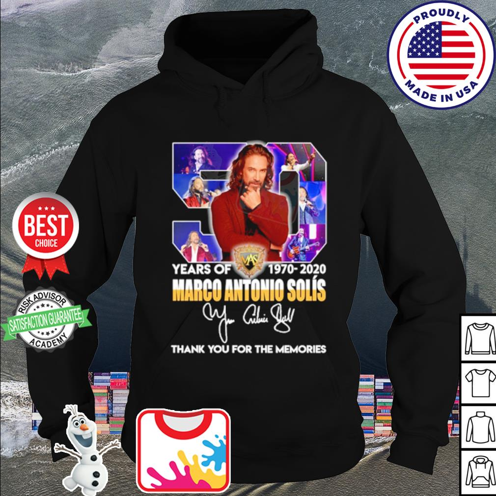 50 years of Marco Antonio Solís 1970 2020 thank you for the memories s hoodie