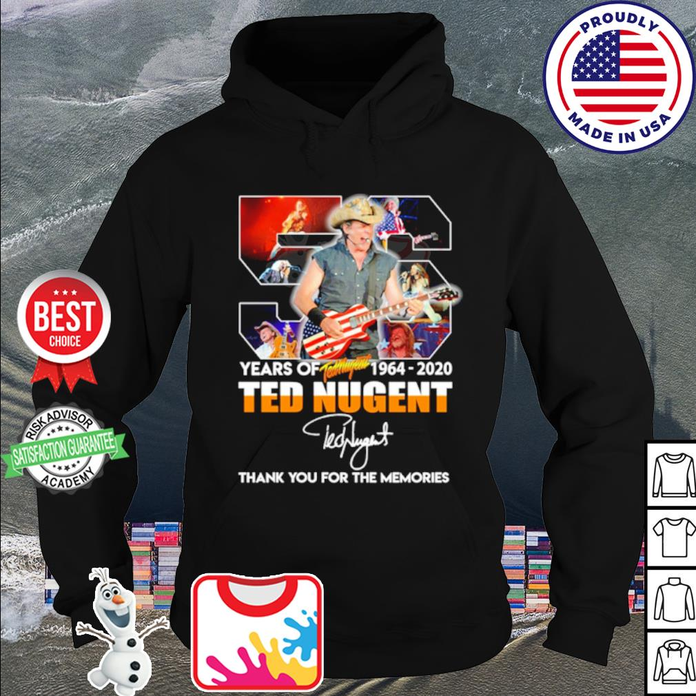 56 years of Ted Nugent 1964 2020 thank you for the memories s hoodie