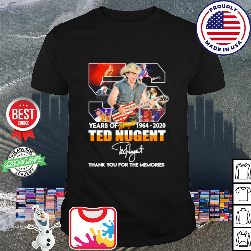56 years of Ted Nugent 1964 2020 thank you for the memories shirt
