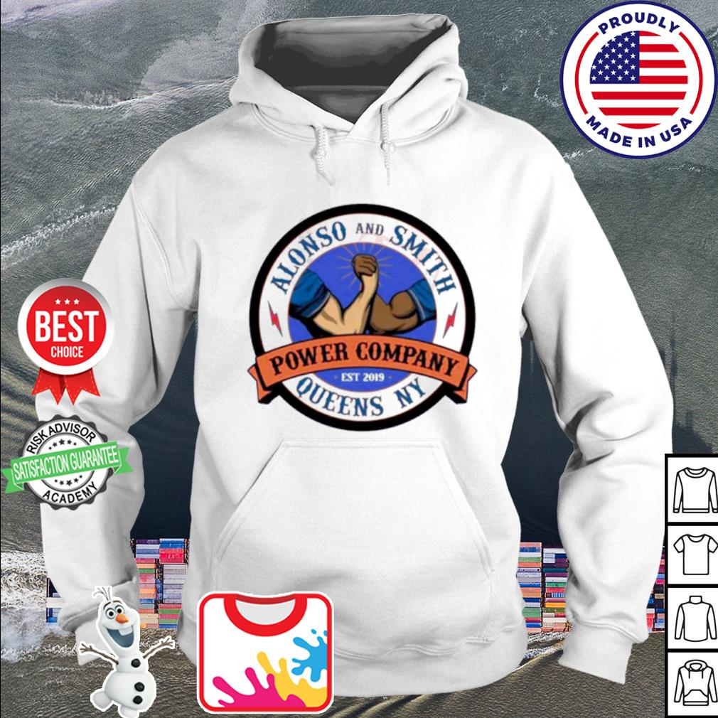 Alonso and Smith Queens Power Company NY logo s hoodie