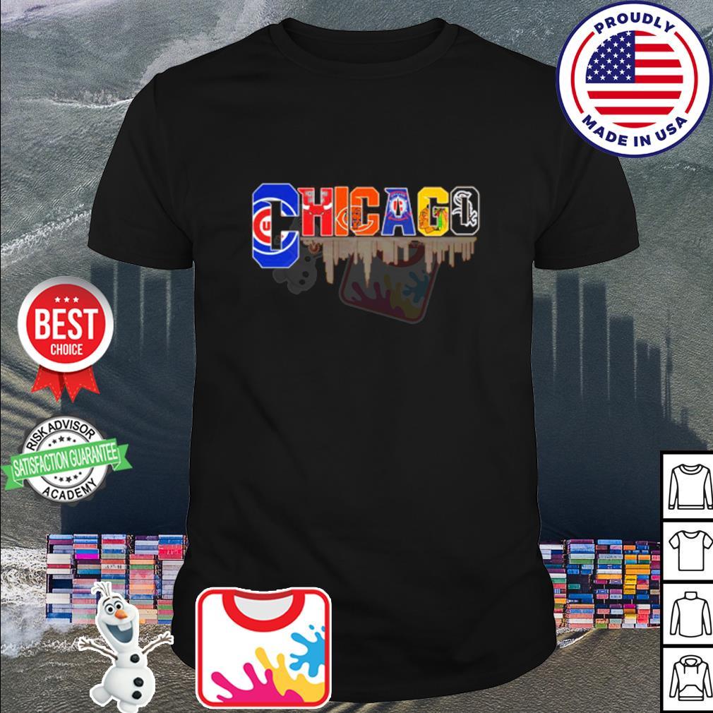 Chicago Cubs Chicago Bulls Chicago Bears Chicago Fire Soccer shirt
