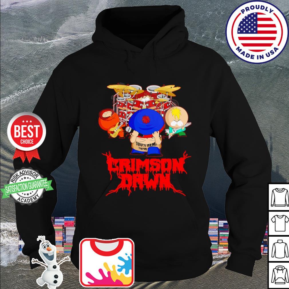 Crimson dawn 100% hemp tegridy drumer s hoodie