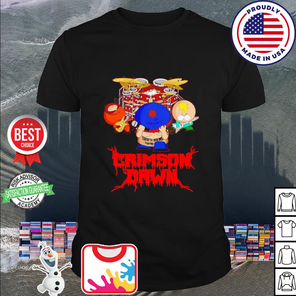 Crimson dawn 100% hemp tegridy drumer shirt
