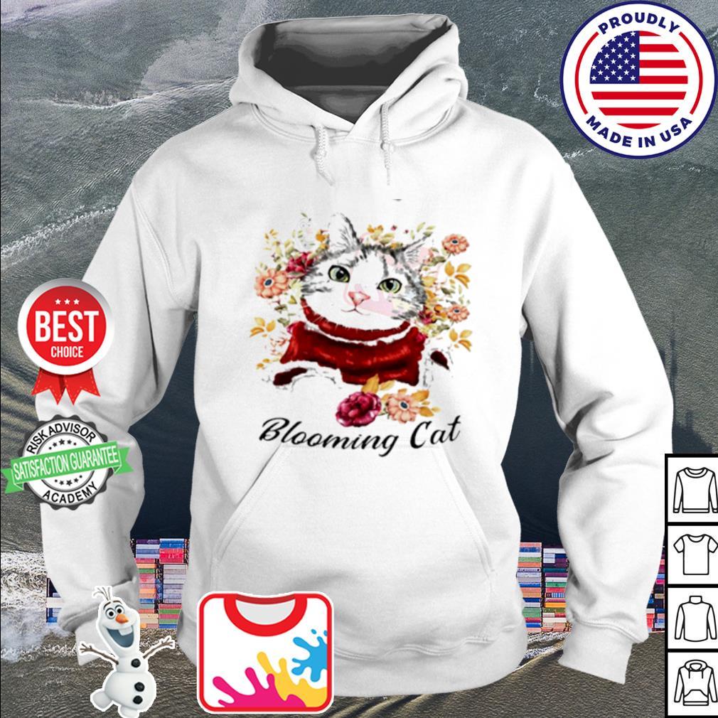Cute Blooming Cat Watercolor Cat Flower Shirt hoodie