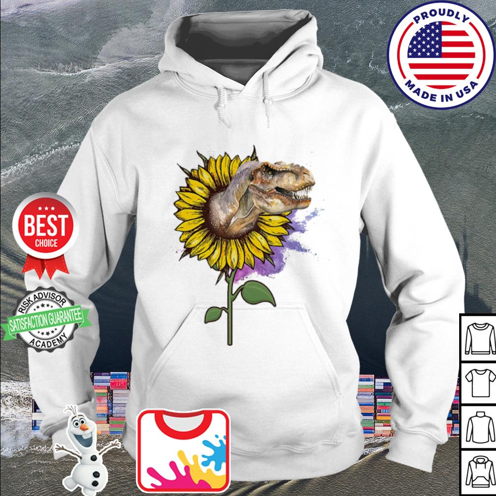 Dinosaur out sunflower watercolor s hoodie