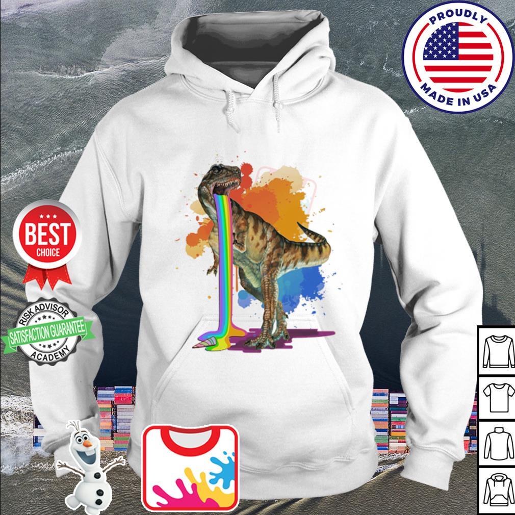 Dinosaur vomit rainbow watercolor s hoodie