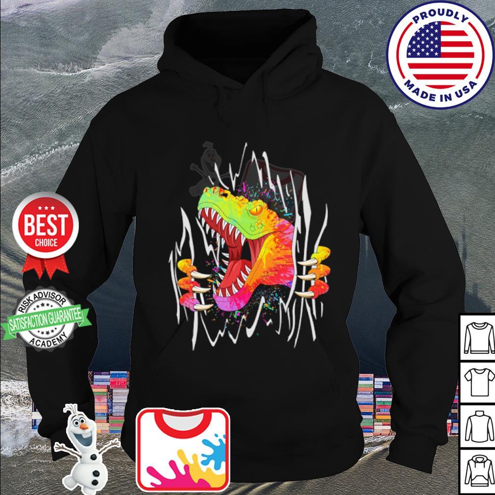 Dinosaur watercolor blood inside me s hoodie