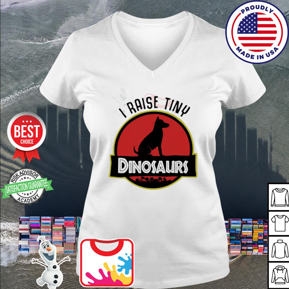 Dog I Raise Tiny Dinosaurs s v-neck t-shirt