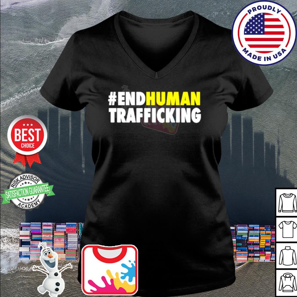 #endhuman End Human Trafficking s v-neck t-shirt