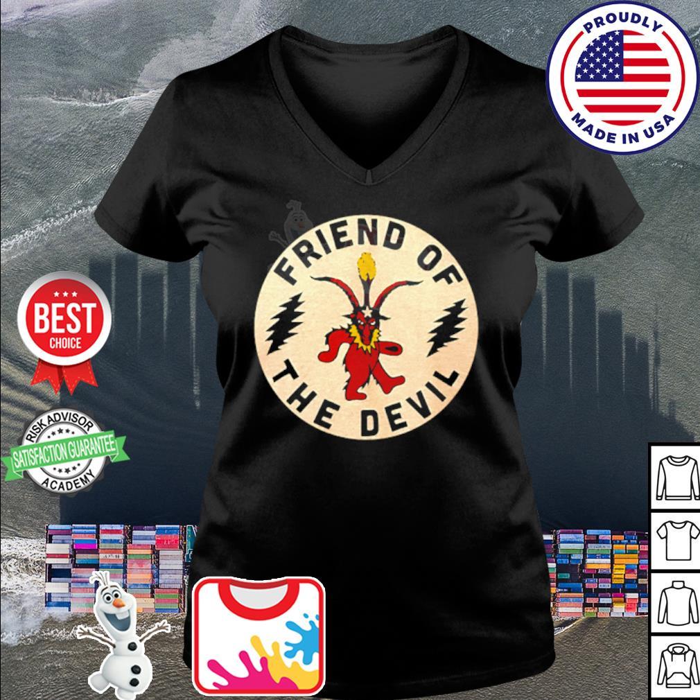 Grateful Dead friend of the devil s v-neck t-shirt