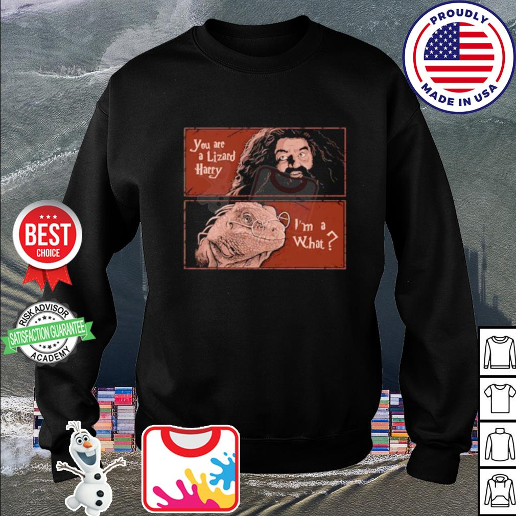 Harry Potter Rubeus Hagrid you are a Lizard Harry I'm a what s sweater