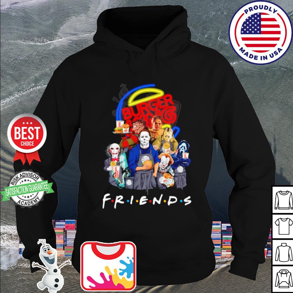 Horror character friends drink Burger King s hoodie