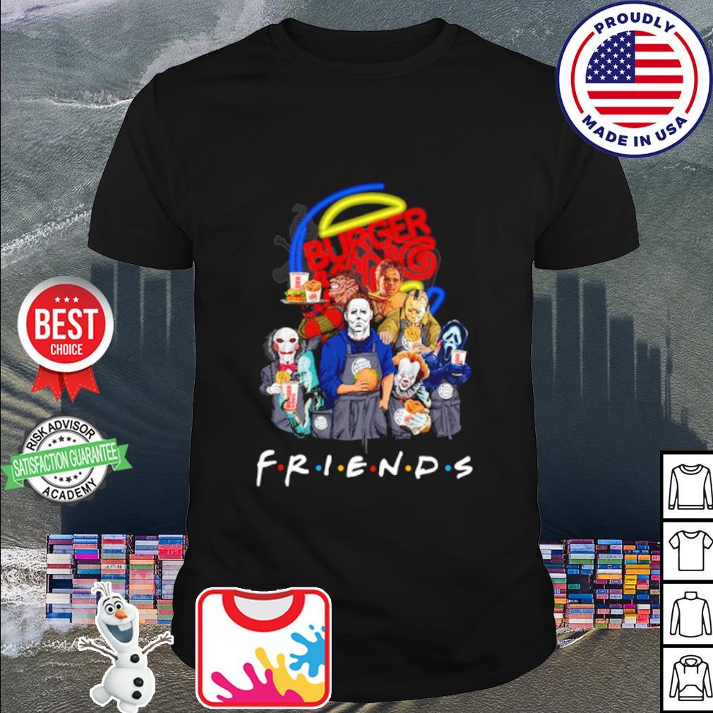 Horror character friends drink Burger King shirt