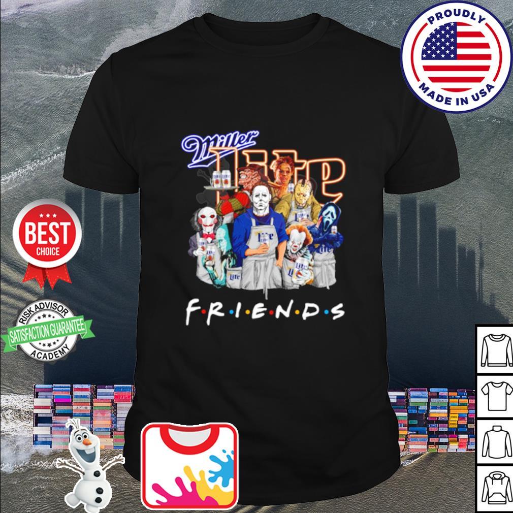 Horror character friends drink Miller Lite shirt