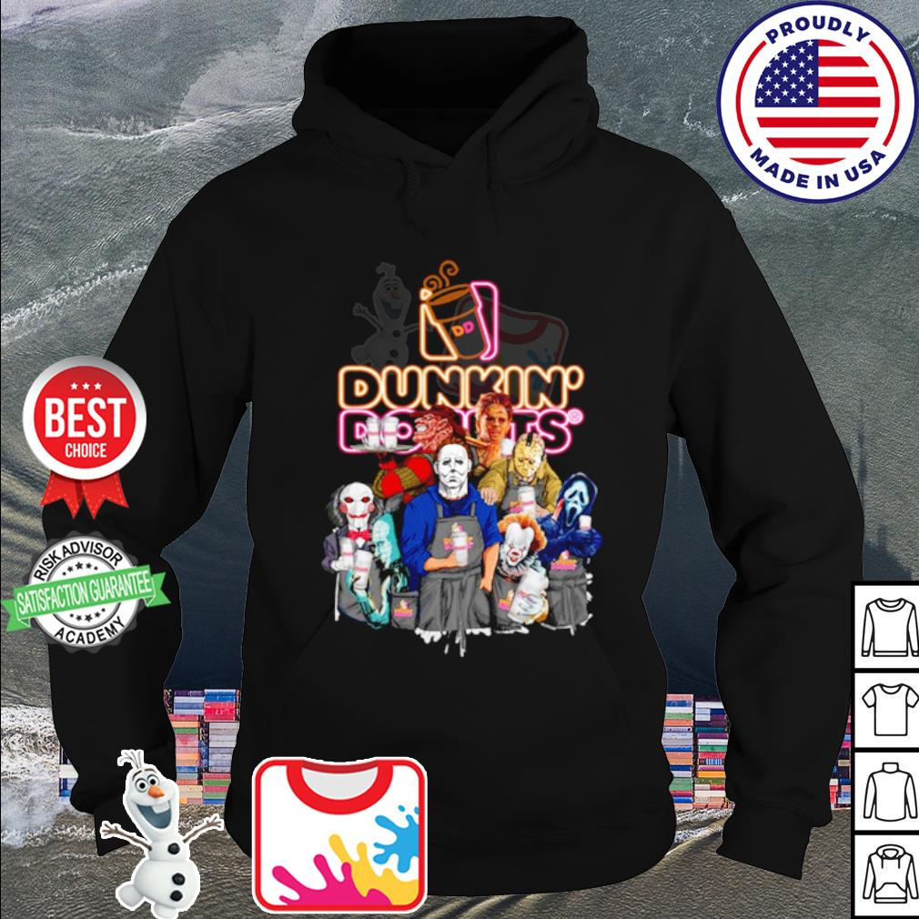 Horror character movie drink Dunkin' Donuts s hoodie