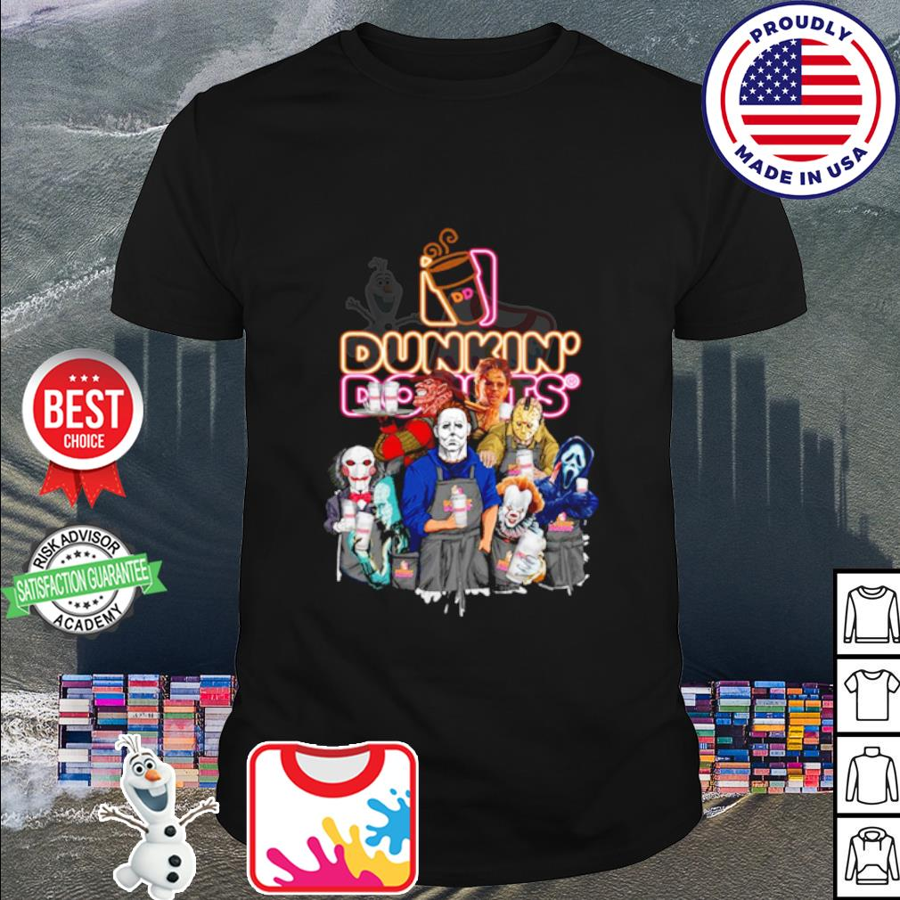Horror character movie drink Dunkin' Donuts shirt
