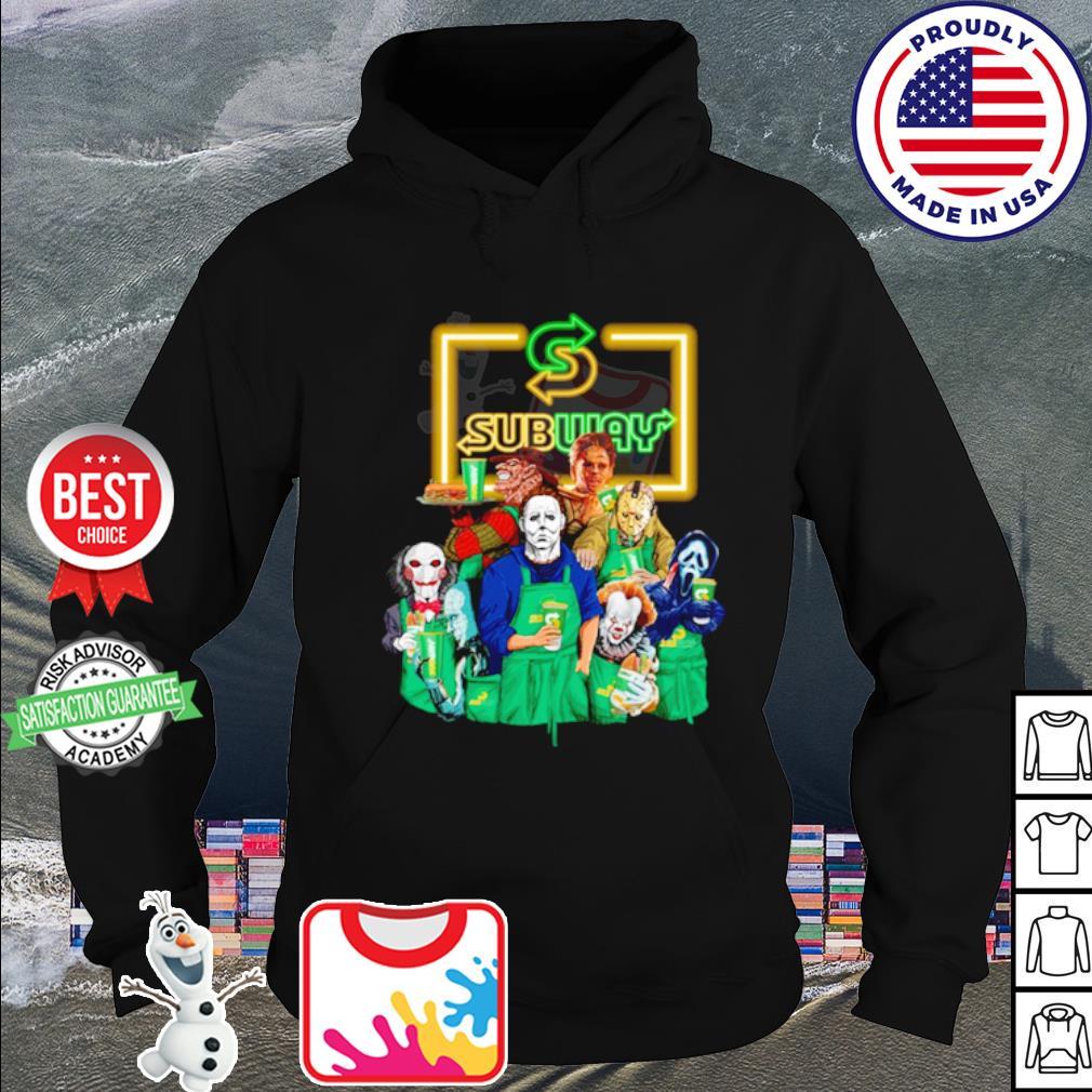 Horror character movie drink Subway s hoodie