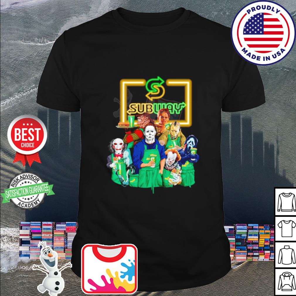 Horror character movie drink Subway shirt