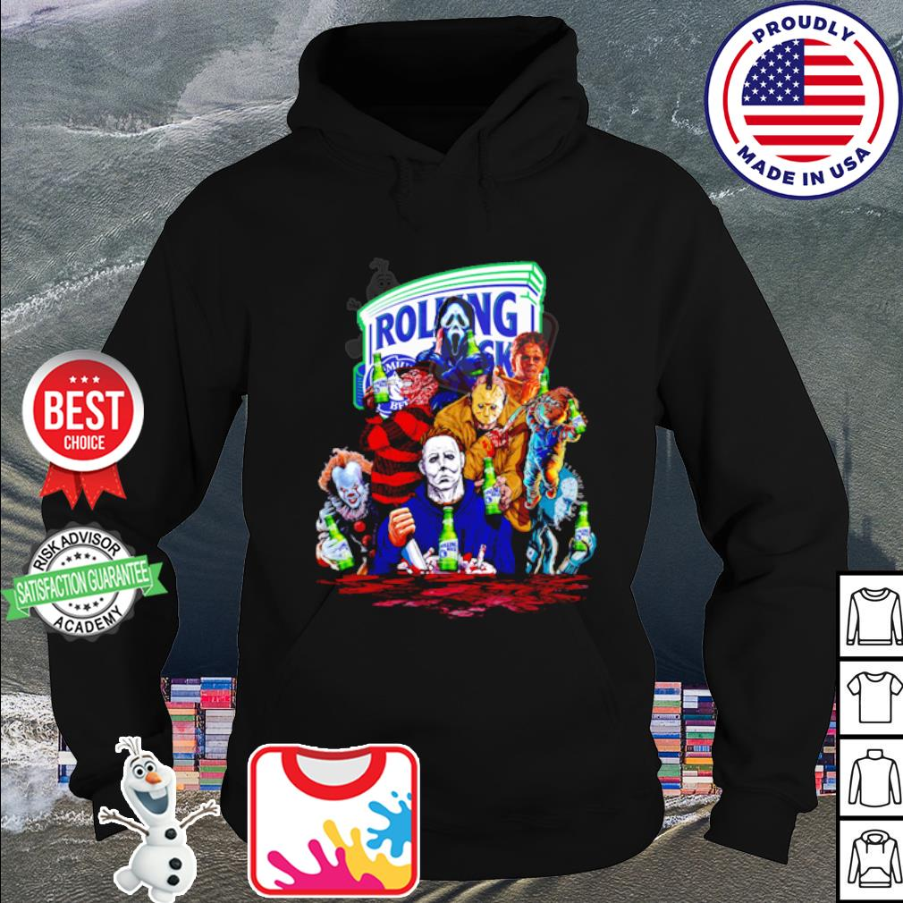 Horror Characters drink Rolling Rock Extra Pale s hoodie