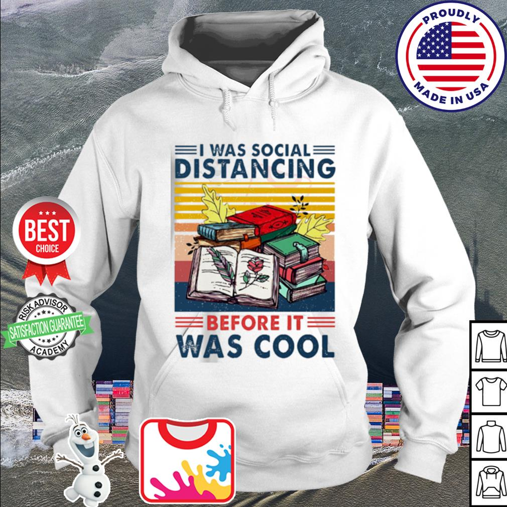 I was social Distancing before it was cool vintage s hoodie