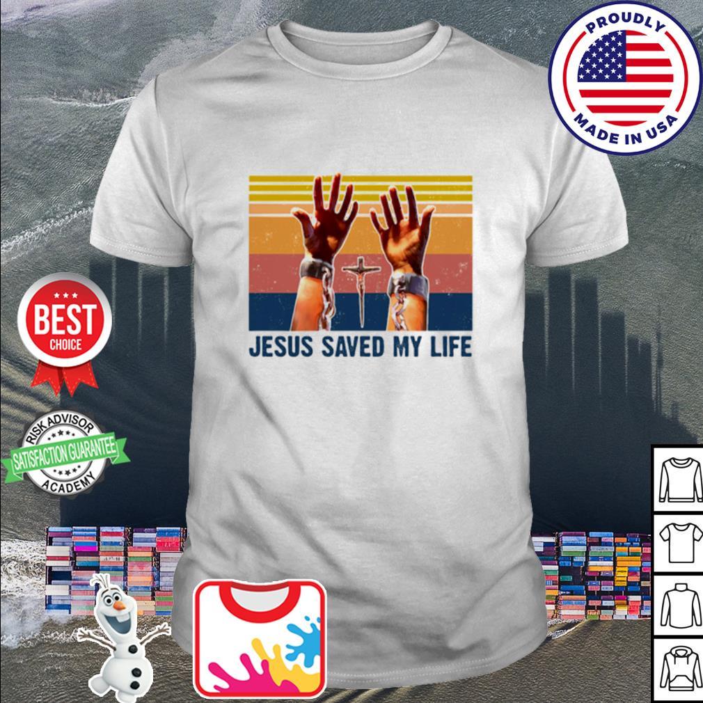 Jesus Saved My Life Vintage Retro Shirt