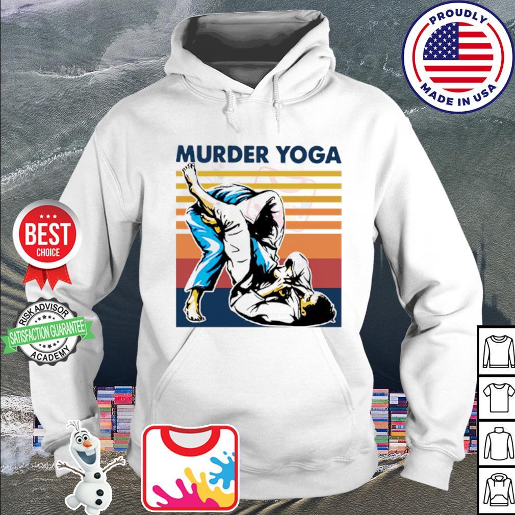 Jiu Jitsu Murder Yoga vintage s hoodie