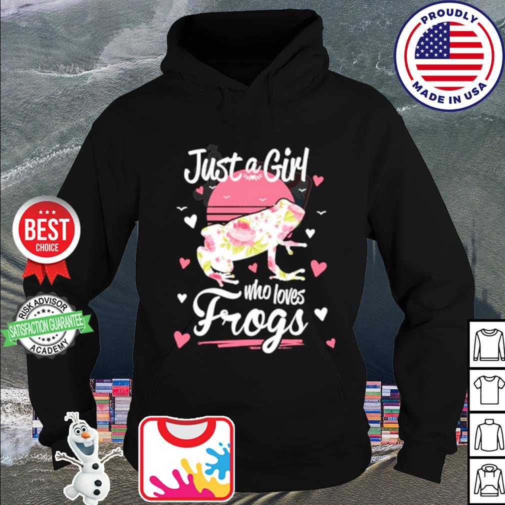Just A Girl Who Loves Frogs Shirt hoodie