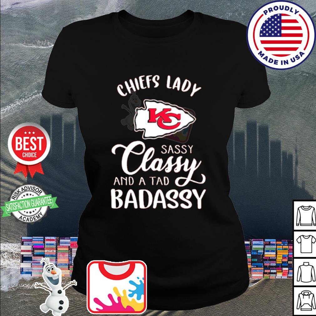 Kansas City Chiefs lady sassy classy and a tad badassy s ladies tee
