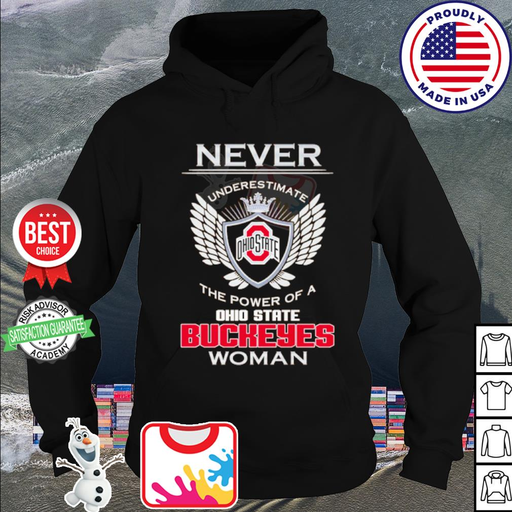Never underestimate Ohiostate the power od a Buckeyes Woman s hoodie