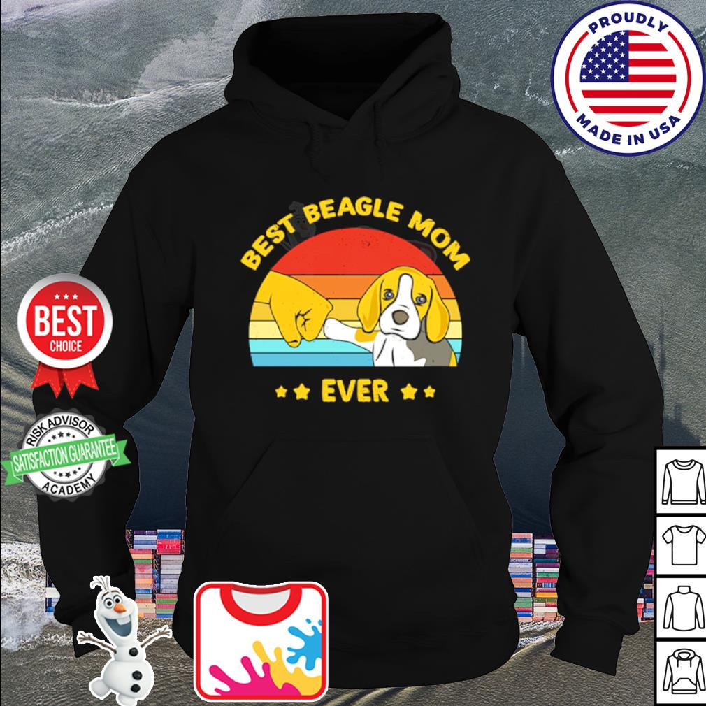 Official Best beagle mom ever vintage s hoodie