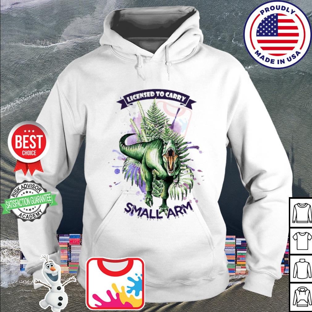 Official Dinosaur watercolor licensed to carry small arm s hoodie