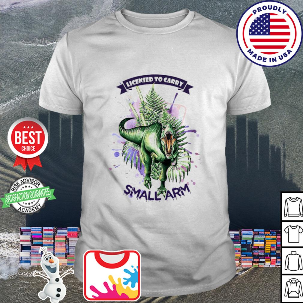 Official Dinosaur watercolor licensed to carry small arm shirt