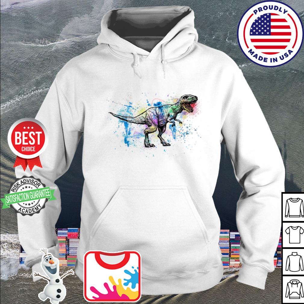 Official Dinosaur watercolor s hoodie