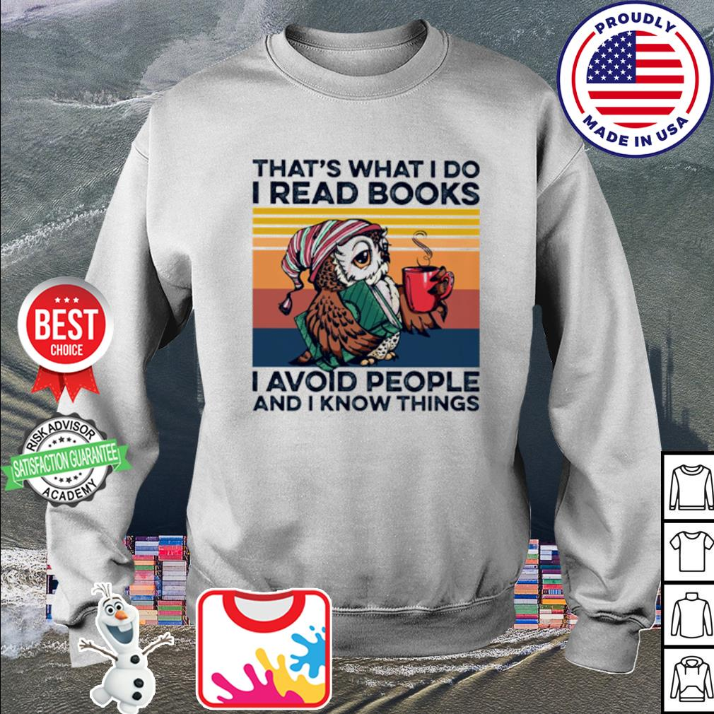 Owl that's what I do I read books I avoid people and I know things vintage s sweater