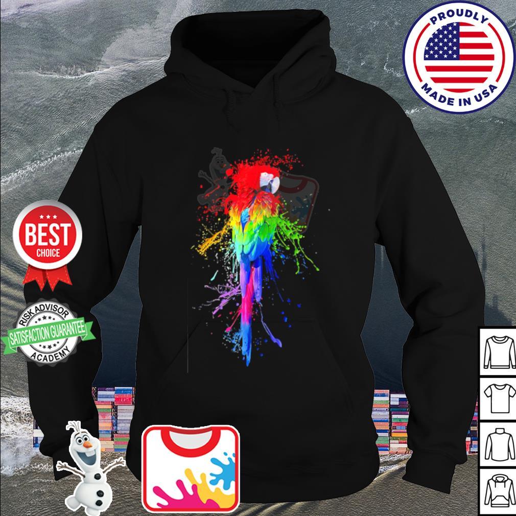 Parrot LGBT watercolor s hoodie