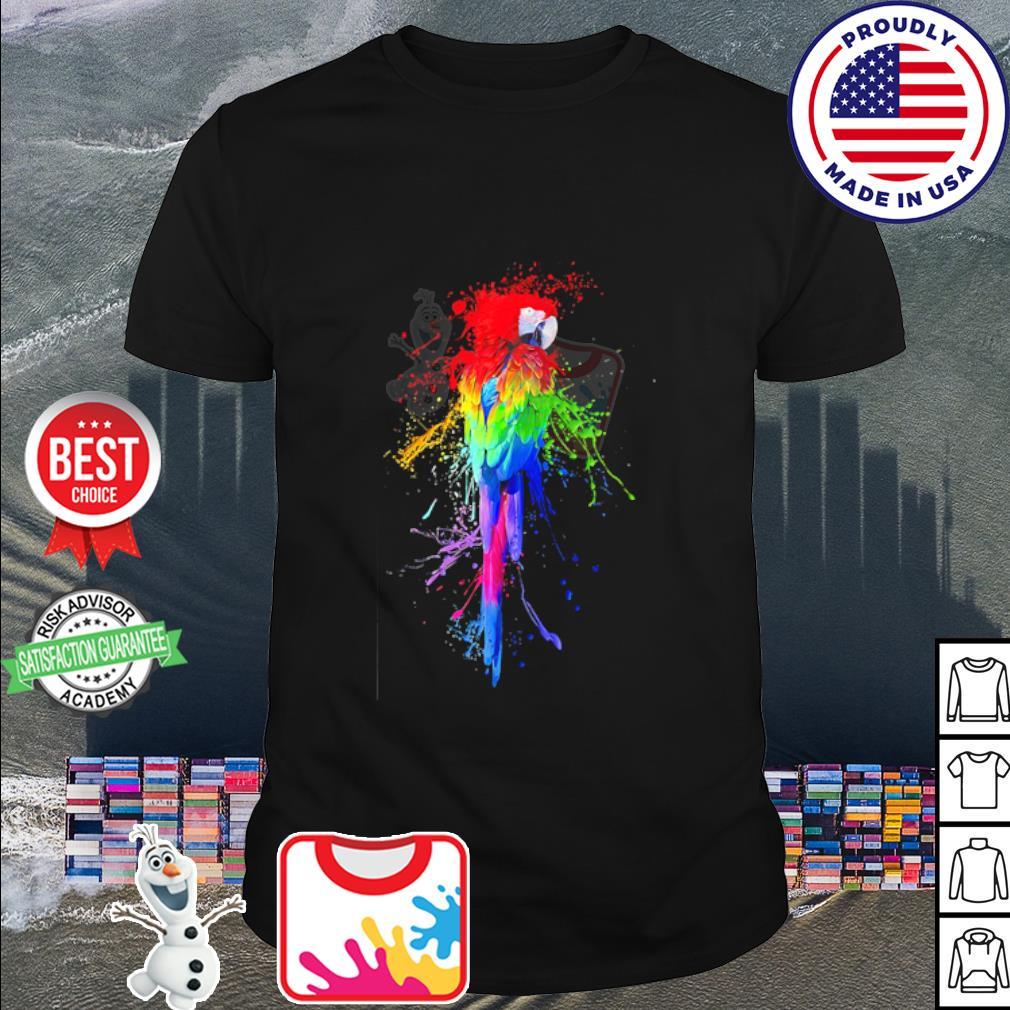 Parrot LGBT watercolor shirt