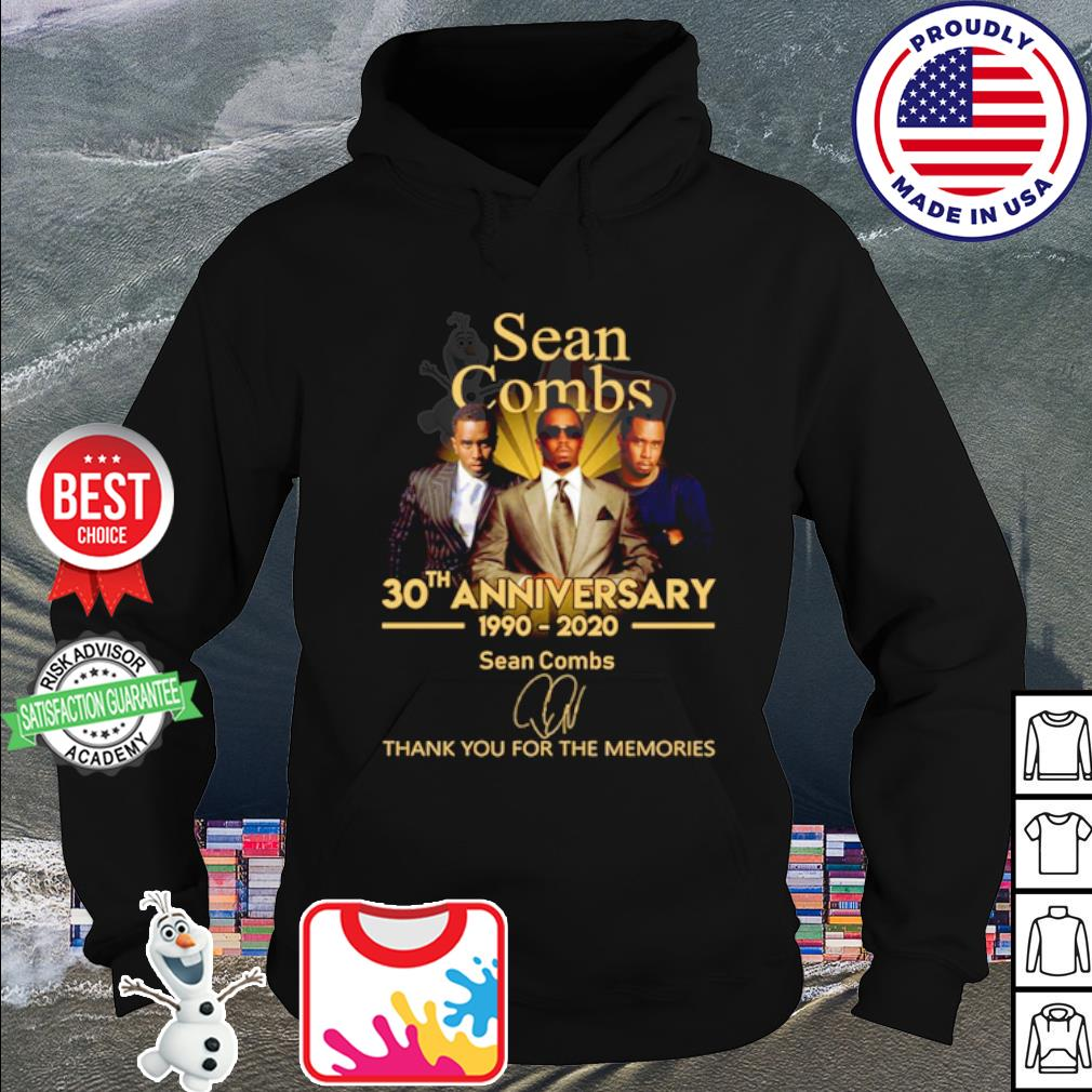 Sean Combs 30th anniversary 1990 2020 thank you for the memories s hoodie