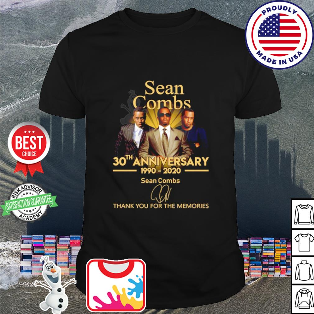 Sean Combs 30th anniversary 1990 2020 thank you for the memories shirt